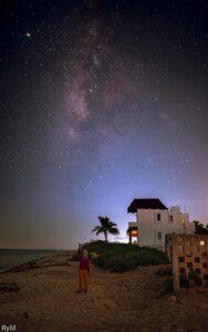 El cielo nocturno en Casa Kayab según RyM